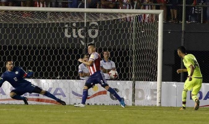 Yangel hizo el último gol contra Paraguay