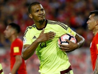 Rondón convirtió un gol contra Chile