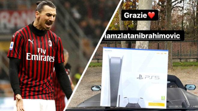Los jugadores del cuadro italiano agradecieron en sus historias de Instagram el presente de Ibra /Fo