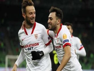 Rakitic y Munir anotaron por el Sevilla /Foto cortesía