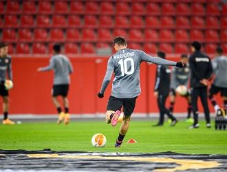 Lucas anotó en Europa League | Foto: @bayer04_es