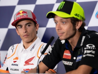 Rossi sigue con rencor a Márquez / foto cortesía