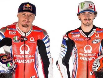 Los dos nuevos pilotos del equipo oficial Ducati/Foto cortesía