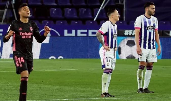 Apenas dos disparos a puerta en todo el partido del Real Madrid