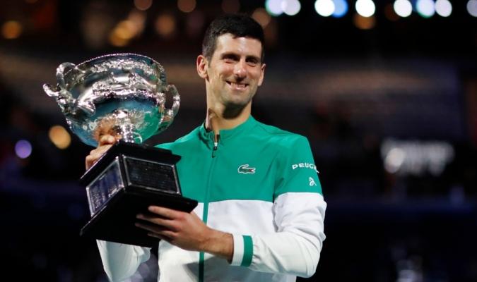El serbio está a dos títulos de de Nadal y Federer / Foto cortesía
