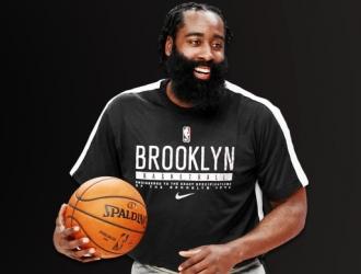 Cortesía: NBA/ James Harden en un entrenamiento de Los Nets