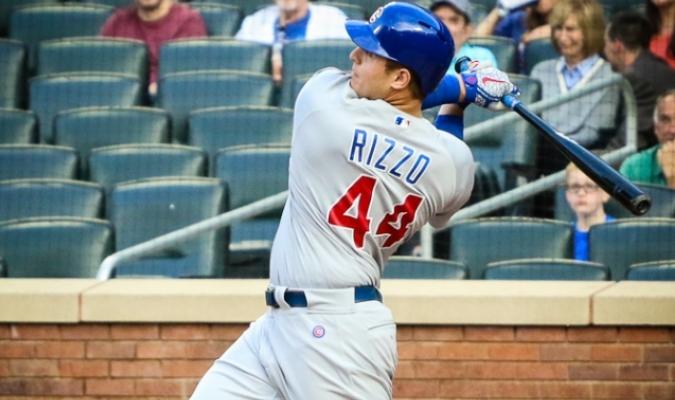 Cortesía: MLB/ Rizzo al bate con los Cubs