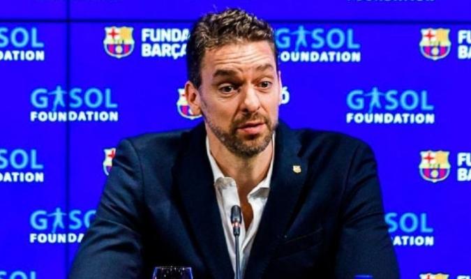 Gasol aterrizó en Barcelona para incorporarse al equipo/Foto cortesía