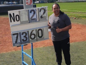 Se quedó a cuatro centímetros de su récord nacional