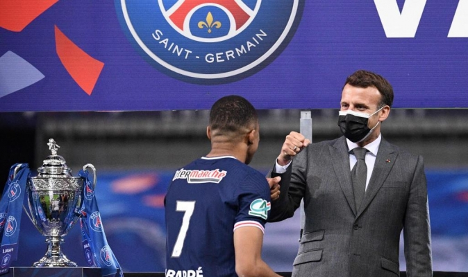 Macron se deshizo en elogios hacia el joven jugador francés / Foto cortesía