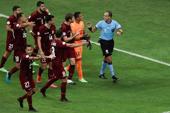 Venezuela cayó 3-0 ante Brasil / Foto: EFE