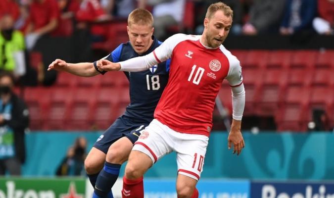 Eriksen se desvaneció en el choque ante Finlandia