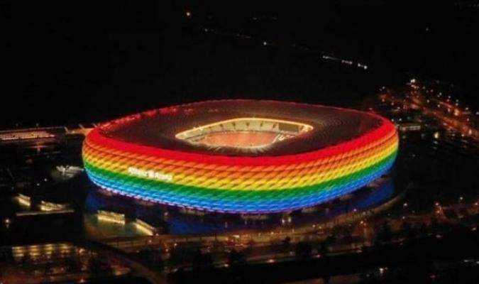 La UEFA tendrá que dar su visto bueno a la iluminación del estadio con los colores del arco iris /