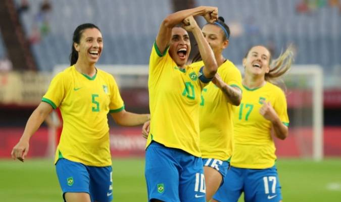 Marta marcó dos goles en el inicio de Tokio