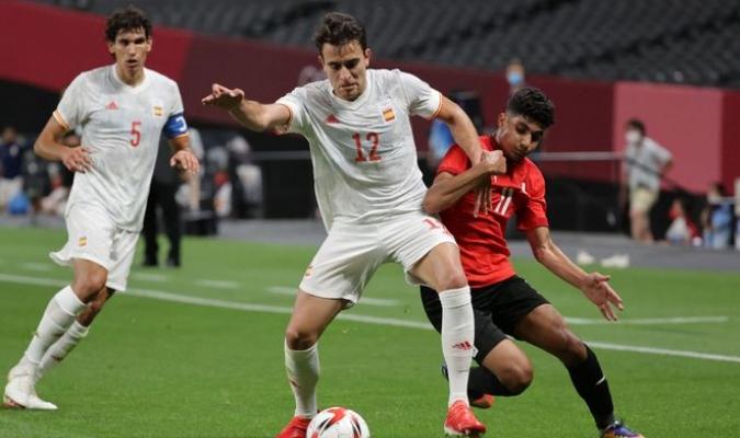 Eric García, central de España, no quiso caer en el pesimismo tras el empate (0-0) frente a Egipto