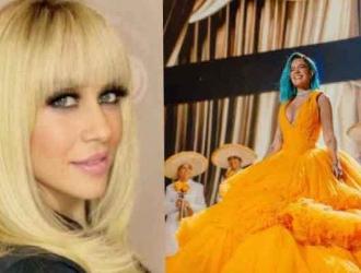 """Para la cantante no fue de su agrado ver cómo la cantante """"manchó"""" la música mexicana."""