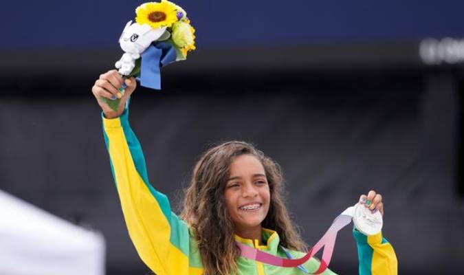 Con 13 años la skater consiguió su primera medalla olímpica