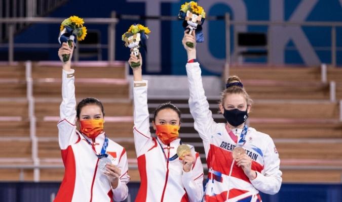 La china Zhu Xueying, que en 2014 fue campeona de trampolín de gimnasia en los Juegos de la Juventu