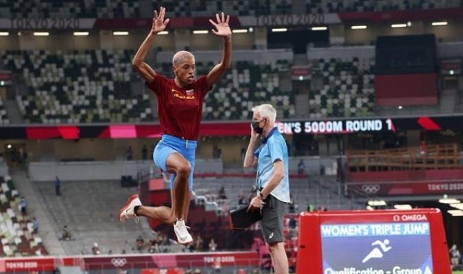 Yulimar en su salto   Foto: Prensa COV