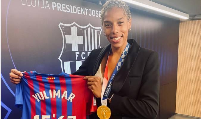 Yulimar fue ovacionada en el Camp Nou