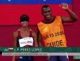 Lina Pérez se colgó la medalla de oro en la final de los 100 metros T11 / foto cortesía