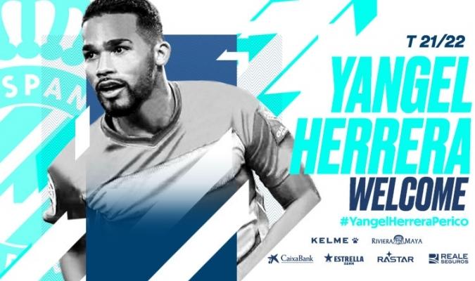 Yangel Herrera, se convirtió en la última incorporación del Espanyol/Foto twitter