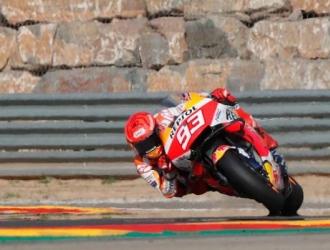 Marquéz está de cuarto en la clasificación oficial para el Gran Premio de Aragón de MotoGP