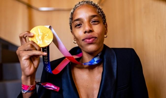 Yulimar Rojas fue la única medallista olímpica de Venezuela que no ha tocado suelo criollo / foto