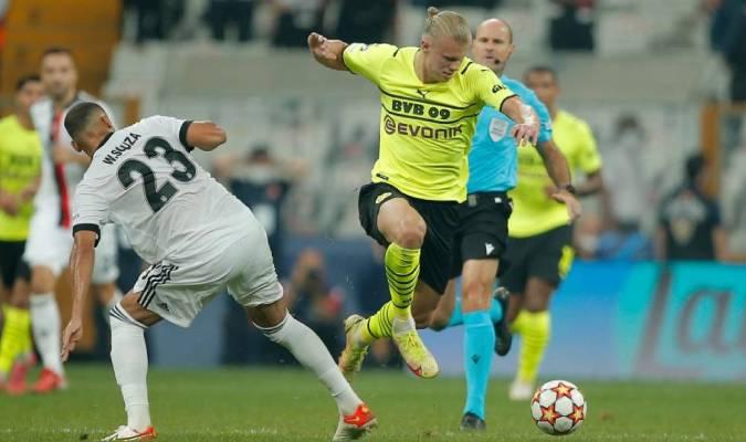 El Dortmund empezó con muchas imprecisiones en la salida del balón