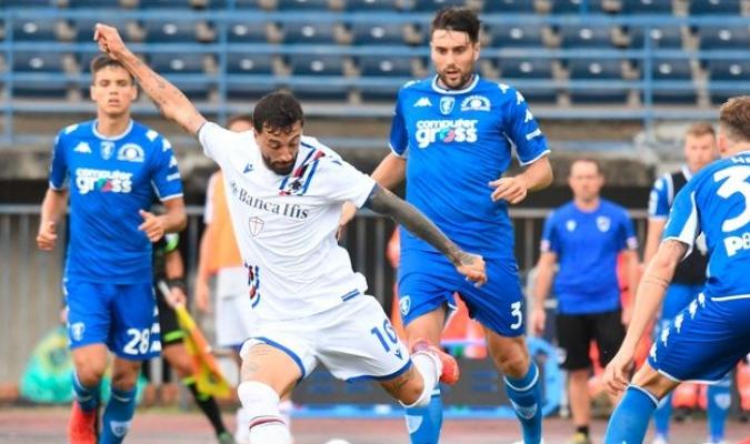 Firmó un doblete decisivo para impulsar el 3-0 del Sampdoria