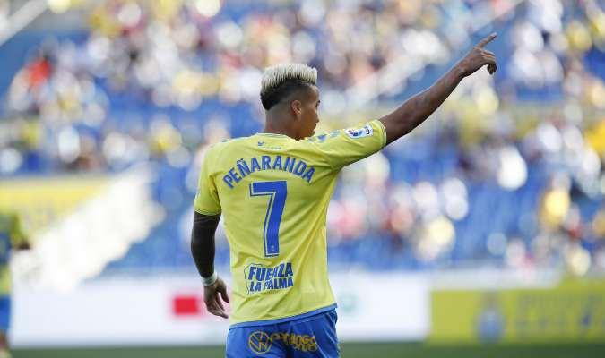 Peñaranda ingresó a los 20 minutos del partido | Foto: UD Las Palmas