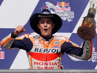 Marc, logró la victoria en la carrera de MotoGP y completó el triplete español en Texas / foto co