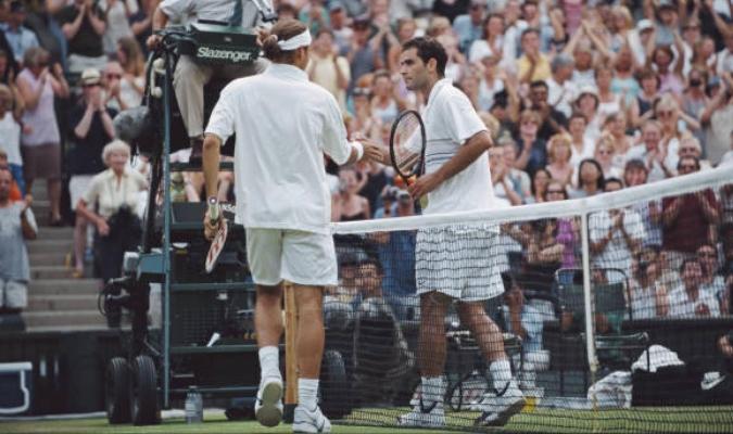 Roger jugó ante Sampras su primer partido en la cancha de central del All England Club /AP