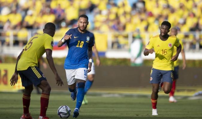 La selección Colombia le arrebató a Brasil el primer punto de su campaña impecable / cortesía @c