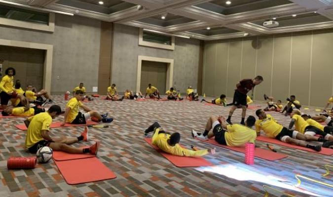 Venezuela entrenando en las instalaciones del hotel. Foto: Marie Ferro