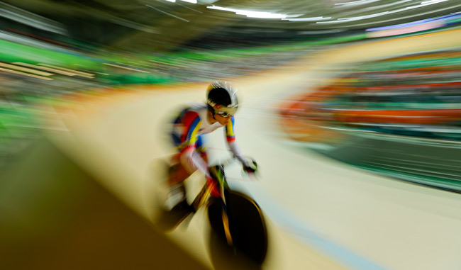 Venezuela se vio bien en el velodromo de Río/AP