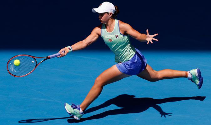 Barty estuvo en un gran nivel ante Kvitova/ Foto AP
