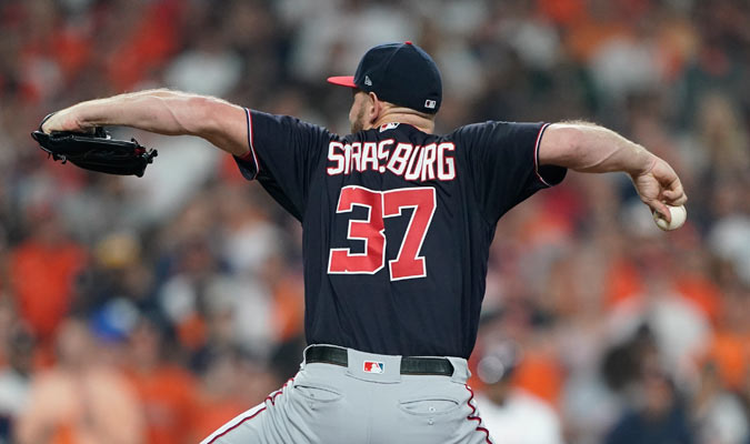 Strasburg estuvo espléndido en la lomita/ Foto AP