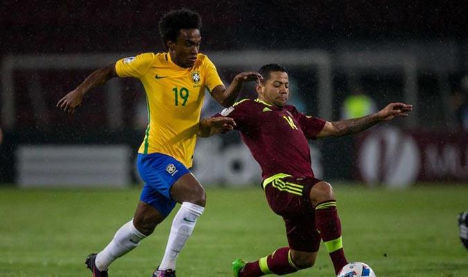 Willian colocó cifras definitivas al partido en el segundo tiempo / Foto EFE