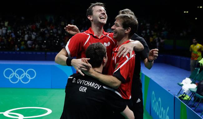 Alemania se quedó con la medalla de bronce en ping pong por equipo/AP