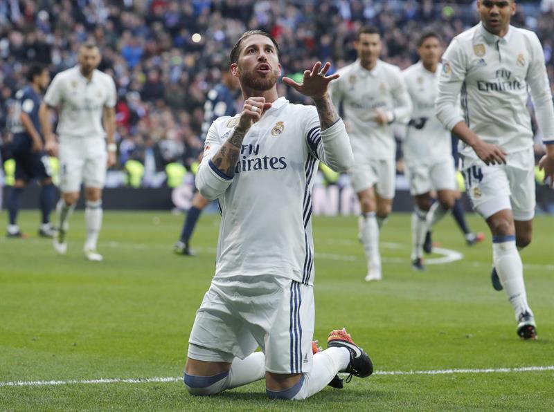 Sergio Ramos anotó los dos goles del Real Madrid /Foto EFE
