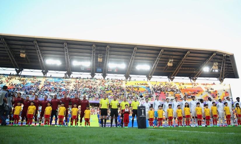 Postal del inicio del encuentro /Foto FIFA