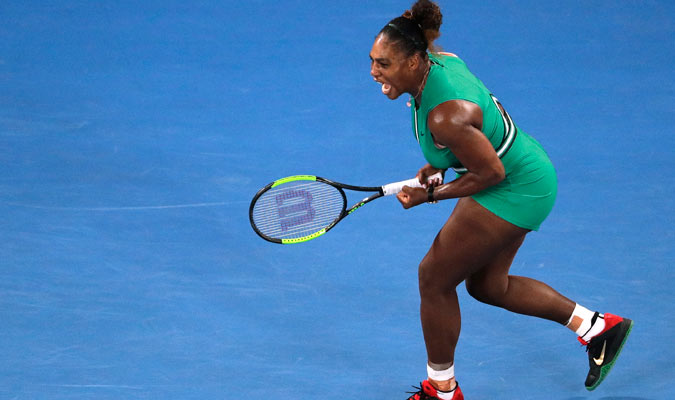 La menor de la Williams vivió el duelo con intensidad/ Foto AP