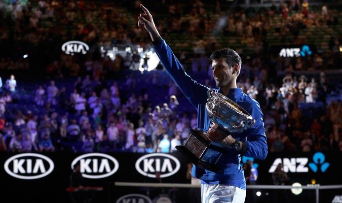 Djokovic agradeciendo al público/ Foto AP