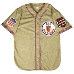Camisa que utilizaron los jugadores de All American en el tour de 1934. Foto Baseball Hall of Fame