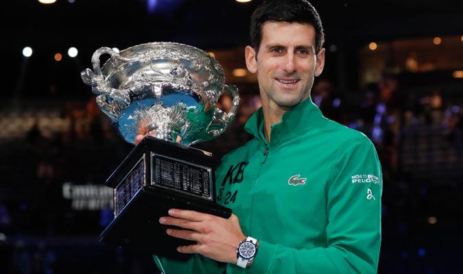 El serbió conquistó su octavo título en Australia/ Foto AP