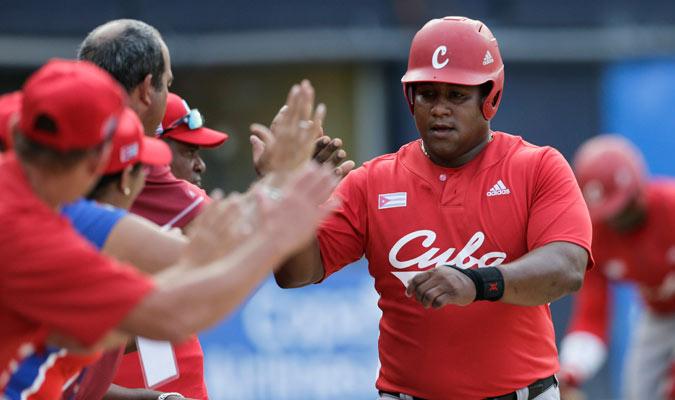 Alfredo Despaigne realizó la única anotación de los cubanos/ Foto AP