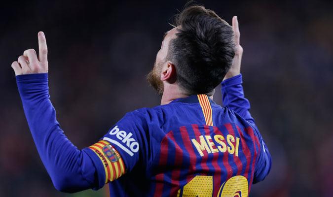 Lio Messi celebrando su anotación/ Foto AP