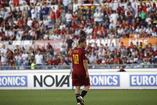 Un día emotivo para Totti  /Foto AP