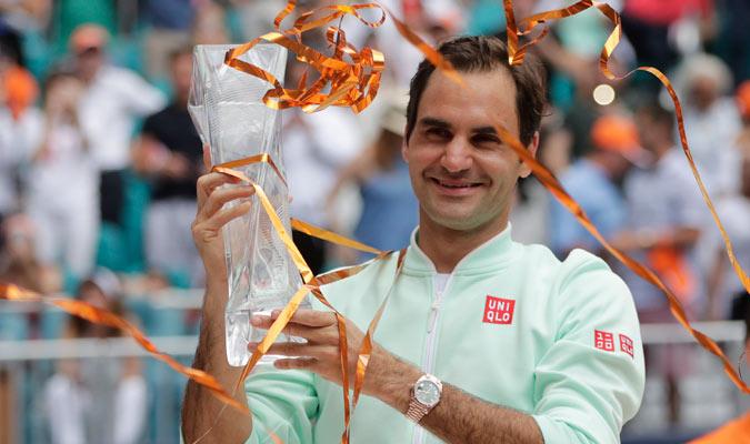 El suizo se impuso por cuarta ocasión en el torneo de Miami/ Foto AP